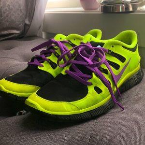 Nike ID custom neon green yellow purple cheetah